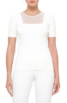 Akris punto Sheer Panel Knit Top available at #Nordstrom