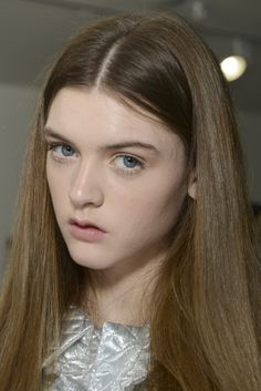 Beauty notes on Ryan Lo's show… Blushing cheeks, rosy lips and soft skin. #LFW #RyanLo #AW14 #TopshopShowspace #NEWGEN