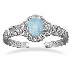 Ornate Larimar Cuff Bracelet Jewelry Dreamer. $276.17