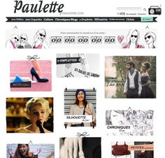 internet | France. Beautiful, creative blog design