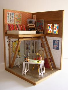 """Hand-made miniature Scene 1:12 scale """"Mexico lindo! """" by Pequeneces on Etsy"""
