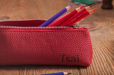 Personalized leather pencil case pencil case leather pencil