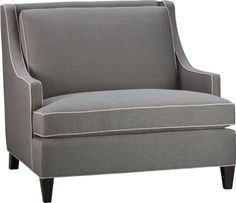Barrington Chair and a Half  | Crate and Barrel Great, except for the lighter piping.