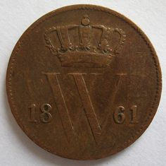 Nederland 1 cent 1861