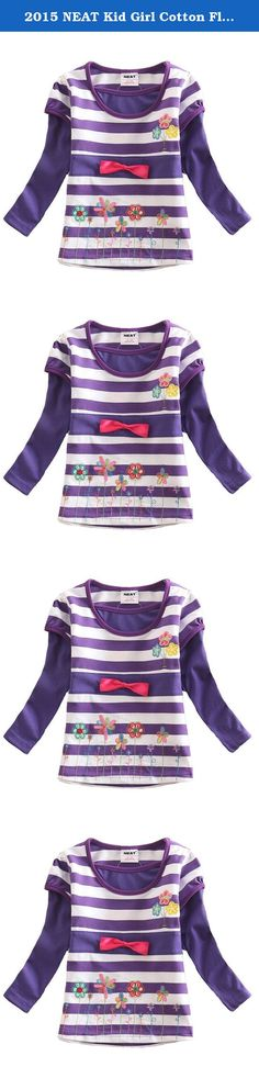 2015 NEAT Kid Girl Cotton Flower Long Sleeve T Shirt Tee Purple For 3-4 Years. NEAT kids clothing is dirctly sell from factory. We focus to children health, using natural fabrics, the perfect combination of fashion and comfortable. Brand Name: NEAT Style: Fashion Material: Cotton Notice: If you want kids wear longger time, you can order 1 size bigger Size: 18-24 months=86-92cm 2-3 years=92cm-98cm 3-4 years=98cm-104cm 4-5 years=104cm-110cm 5-6 years=110cm-116cm.