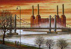 Battersea Power Station & Chelsea Bridge