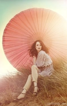 Summer Fashion fashion summer vintage sun umbrella pastel outfit parasol