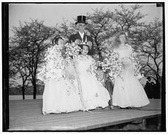 Sakiko Saito, daughter of the Japanese ambassador to the U.S., is crowned queen of the cherry blossom festival in Washington, D.C. April 8, 1937. Harris & Ewing Collection, Library of Congress Prints and Photographs Division.