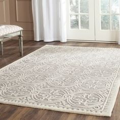 Rug from Cambridge collection. Bring classic style to your bedroom, living room, or home office with a richly-dimensional Safavieh Cambridge Rug. Artfully hand-tufted, these plush wool Modern Moroccan, Moroccan Design, Room Rugs, Rugs In Living Room, Rv Living, Cambridge, Rug Texture, Traditional Decor, Online Home Decor Stores