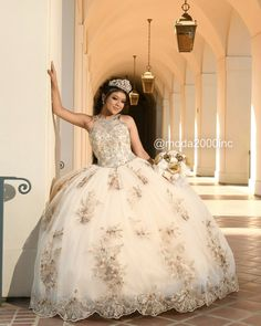 Book your appointment to say yes to your dream dress at moda 2000 714 774 7537 tips for choosing your damas and chambelanes Champagne Quinceanera Dresses, Mexican Quinceanera Dresses, Mexican Dresses, Wedding Dresses, Quinceanera Themes, Sweet 15 Dresses, Quince Dresses, Homecoming Dresses, Pageant Dresses