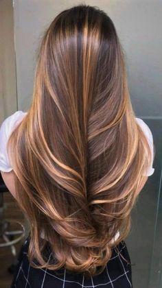 Hair Color Highlights, Ombre Hair Color, Hair Color Balayage, Cool Hair Color, Brown Hair Colors, What Hair Color Do I Have, Brunette Hair Colors, Hair Colour Ideas, Honey Highlights