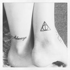 In love with the Deathly Hallows tattoo
