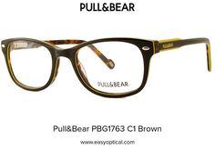 Pull&Bear PBG1763 C1 Brown Pull, Eyewear, Bear, Brown, Style, Swag, Eyeglasses, Bears, Brown Colors
