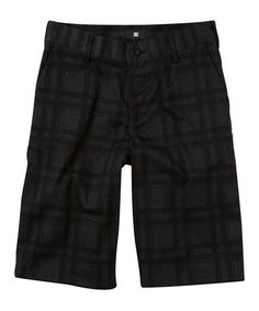 Take a look at this Charcoal Chino Shorts - Boys by DC on #zulily today!