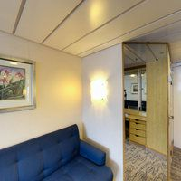 Panorama of The Superior Balcony Cabin on Navigator of the Seas