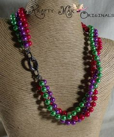 Bright Mixed Glass Pearls Necklace Set - Krafty Max Original Design | KraftyMax - Jewelry on ArtFire