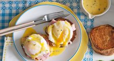 Eggs Benedict with cheat's hollandaise sauce