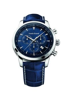 Men watches : Louis Erard Heritage Collection Swiss Quartz Blue Dial Men's Watch 13900AA05.BDC102