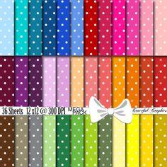 Scrapbook Paper 12 x 12 MULTI Color MEGA Pack by GracefulGraphics, $3.50
