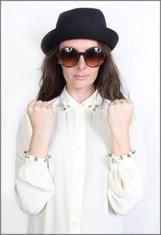 Vintage 90s Grunge Studded Blouse         #fashion #style #vintage    http://www.ebay.co.uk/itm/Vintage-90s-Grunge-Cream-Studded-Shirt-Blouse-Size-8-10-/130727309336?pt=UK_Women_s_Vintage_Clothing=item1e6ff47018
