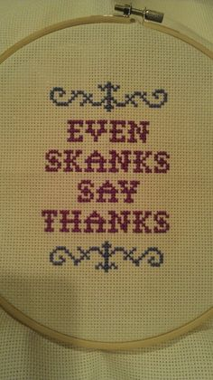 My own custom creation. Text from Knock-Knock's Indelicate Doilies; cross stitch font from subversivecrossstitch.com.