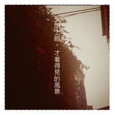 { 閉上眼,才看得見的風景 }  Shot by 文青相機