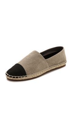 Comfy two-toned espadrilles for spring/summer, and great price.