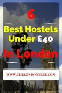 Top 6 Hostels Under £40 In London