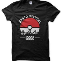 Kanto Official Gym Leader T-Shirt by OnlyForHumans on Etsy Pokemon T, Gym Leaders, Mens Tops, T Shirt, How To Wear, Stuff To Buy, Etsy, Women, Fashion
