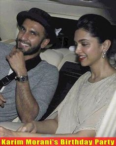 Bollywood's sizzling couple #RaveerSingh and #DeepikaPadukone, were recently spotted together attending producer Karim Morani's birthday bash.  For more pictures click here : www.biscoot.com #Celebs #CelebrityPhotos #Biscoot #CelebrityNews