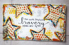 july7_1-papers paint charcoal  textiles trim lace string buttons stamps lace etc top-stitched compiled to become mailart