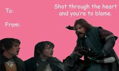 lord of the rings valentines - Google Search