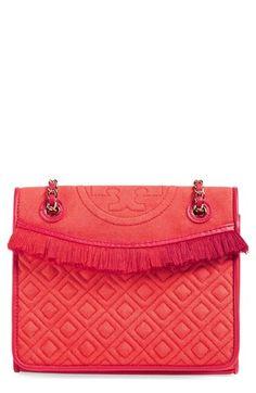 TORY BURCH 'Medium Fleming' Fringe Shoulder Bag. #toryburch #bags #shoulder bags #leather