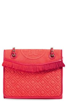 TORY BURCH 'Medium Fleming' Fringe Shoulder Bag. #toryburch #bags #shoulder bags #leather