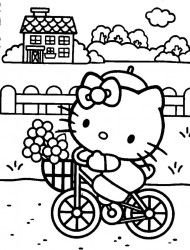 hello kitty coloring pages - Coloring Pictures Of Hello Kitty