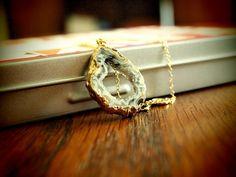 Dara Ettinger Eva Necklace  Small Geode Slice Necklace  Orig:  $96    SALE:  **$29.99**    buy.ephphie@gmail.com