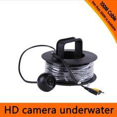 100Meters Depth Underwater Camera with 12PCS white LEDS & Leds Adjustable for Fish Finder & Diving Camera