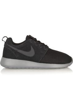 info for 0fb35 8963e Nike  Roshe Run Winter mesh and suede sneakers  NET-A-PORTER.