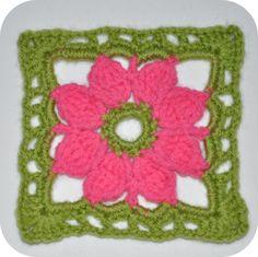 Elizabeth van Busy Bessy heeft een leuk idee, een granny squares verzameling aanleggen. Dit is mijn bijdrage ^_^      Haakpatroon Granny...