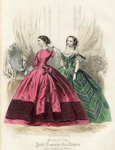 Fashion, Journal de Demoiselles, 1858