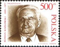 Znaczek: Roman Kozlowski, Paleontologist (Polska) Mi:PL 3264,Sn:PL 2965,Yt:PL 3070,Pol:PL 3116
