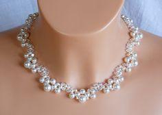 Perle+und+Kristall+SwarovskiHals+Kragen+Halskette++von+akcrystalbead+auf+DaWanda.com