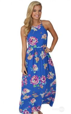Blessings Maxi Dress in Royal