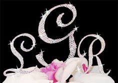 All Over Swarovski Rhinestone Monogram Wedding Cake Topper by Unik Occasions -- You can find out more details at the link of the image.