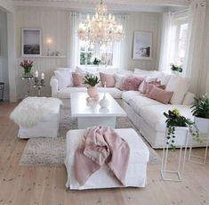 50 Stunning Romantic Living Room Decor Romantic Living Within Cute Living Room Romantic Living Room, Romantic Home Decor, Chic Living Room, Living Room Paint, Cozy Living Rooms, Home Living Room, Living Room Designs, Living Room Decor, Romantic Homes