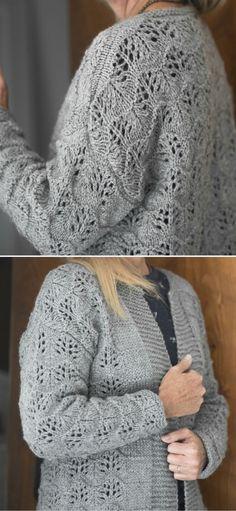 Sweater Knitting Patterns, Crochet Patterns, Cardigans, Sweaters, Just Amazing, Charcuterie, Knit Cardigan, Put On, Free Pattern