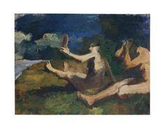 Elmer Nelson Bischoff (America Mirror Art, Mirrors, Figure Painting, Bay Area, Figurative Art, Ocean, American, Artwork, Girls