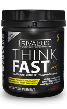 RIVALUS THINK FAST Think Fast, Berries, Fitness Motivation, Health, Food, Powder, Products, Meal, Fit Motivation
