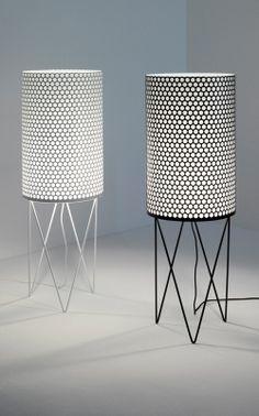 Barba Corsini; Enameled Metal 'Pedrera' Floor Lamp for Gubi, 1955.