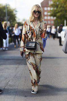 Look pyjama pour le week-end / Street style : 20 looks pour un week-end décontracté